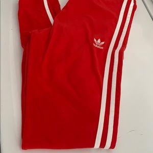 ADIDAS: Red Adidas Leggings